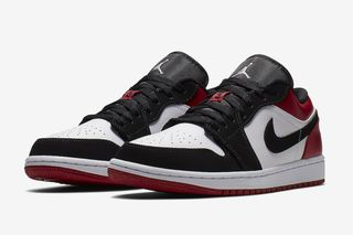 "af7293ecd07 Nike Cuts the Extremely Popular ""Black Toe"" Air Jordan 1 Into a Low"