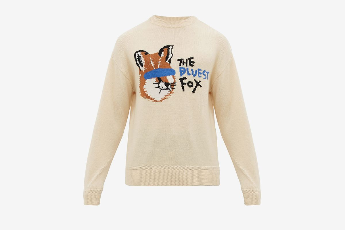 Fox Intarsia Wool Sweater