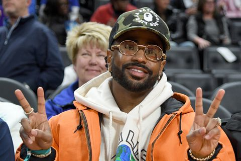 Big Sean BAPE hat glasses