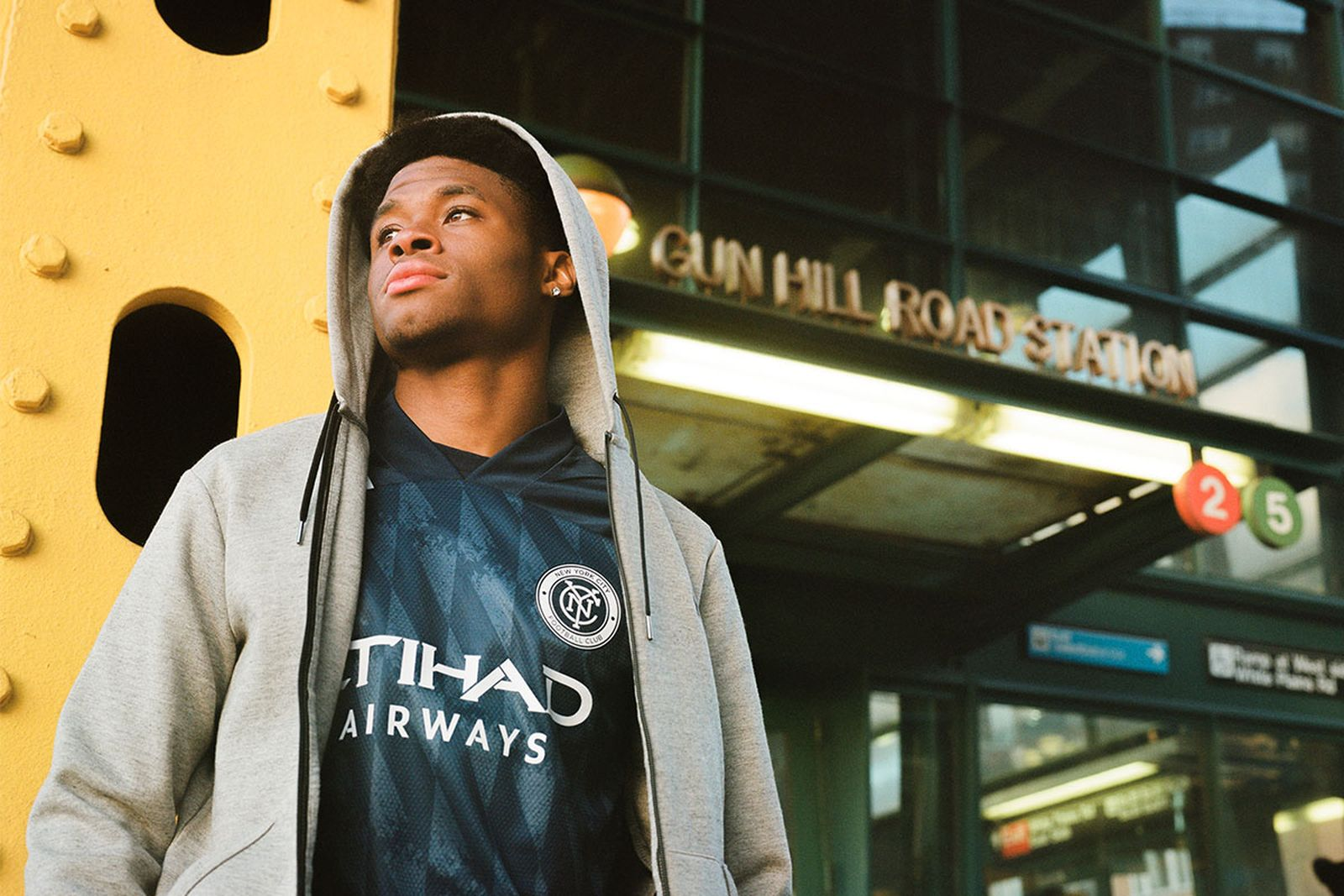 Tayvon Gray, defender for NYCFC.
