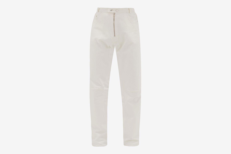 Biker Cotton-Denim Jeans