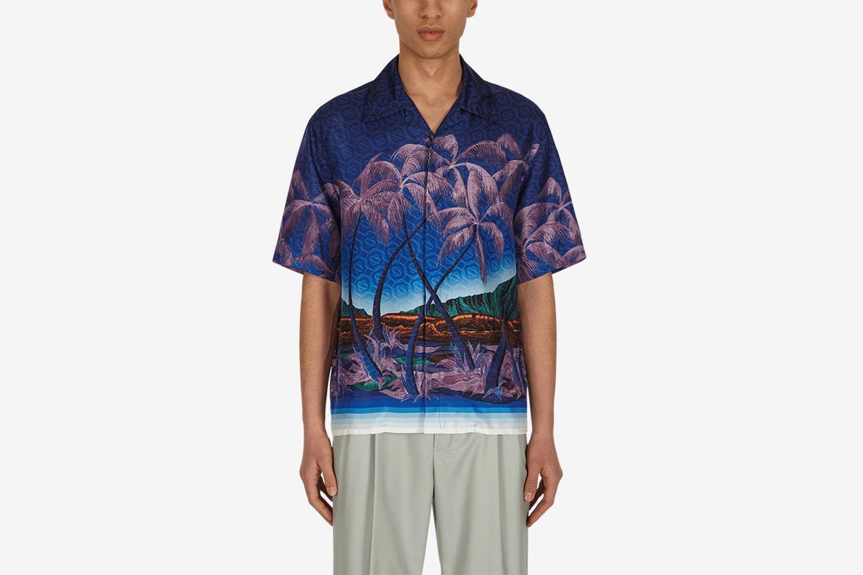 Nuit A Maui Silk Shirt