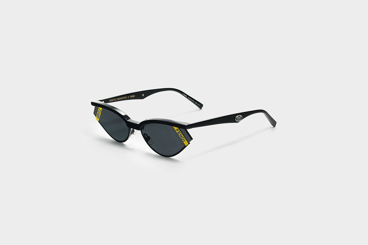 bb253353bb54 This particular pair plays on the current trend of small shapes and bold  logos. Gentle Fendi No. 2 is then an easy-to-wear metal style of sunglasses.