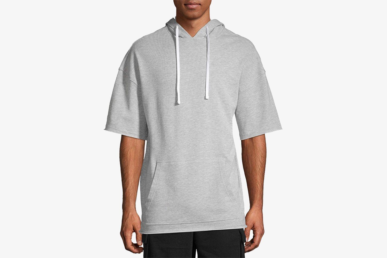 Men's Solid Short Sleeve Hoodie