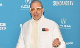 Jeff Goldblum Takes His Prada Game to Another Level in All White