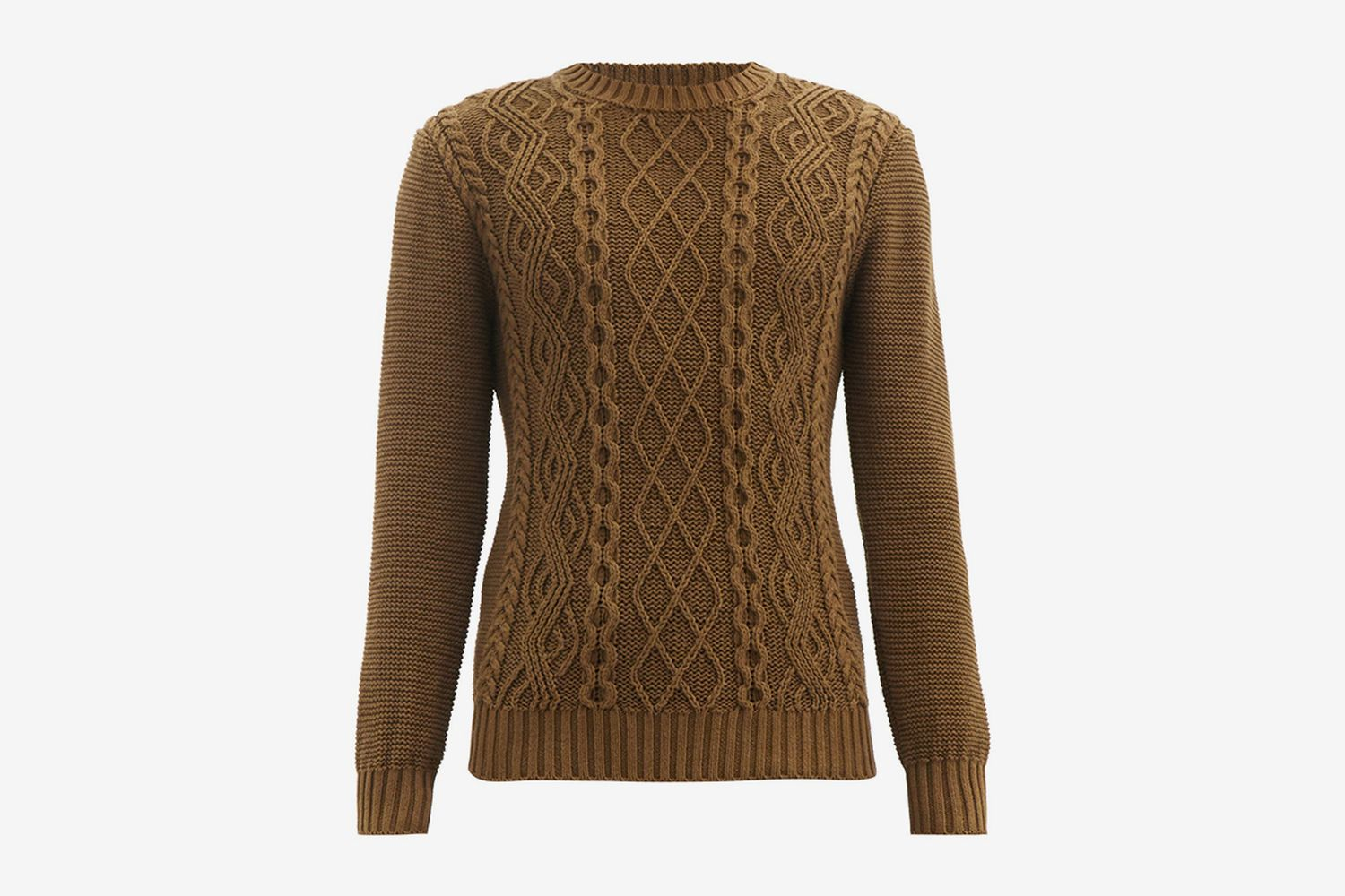 Aran-Knit Organic Cotton Sweater