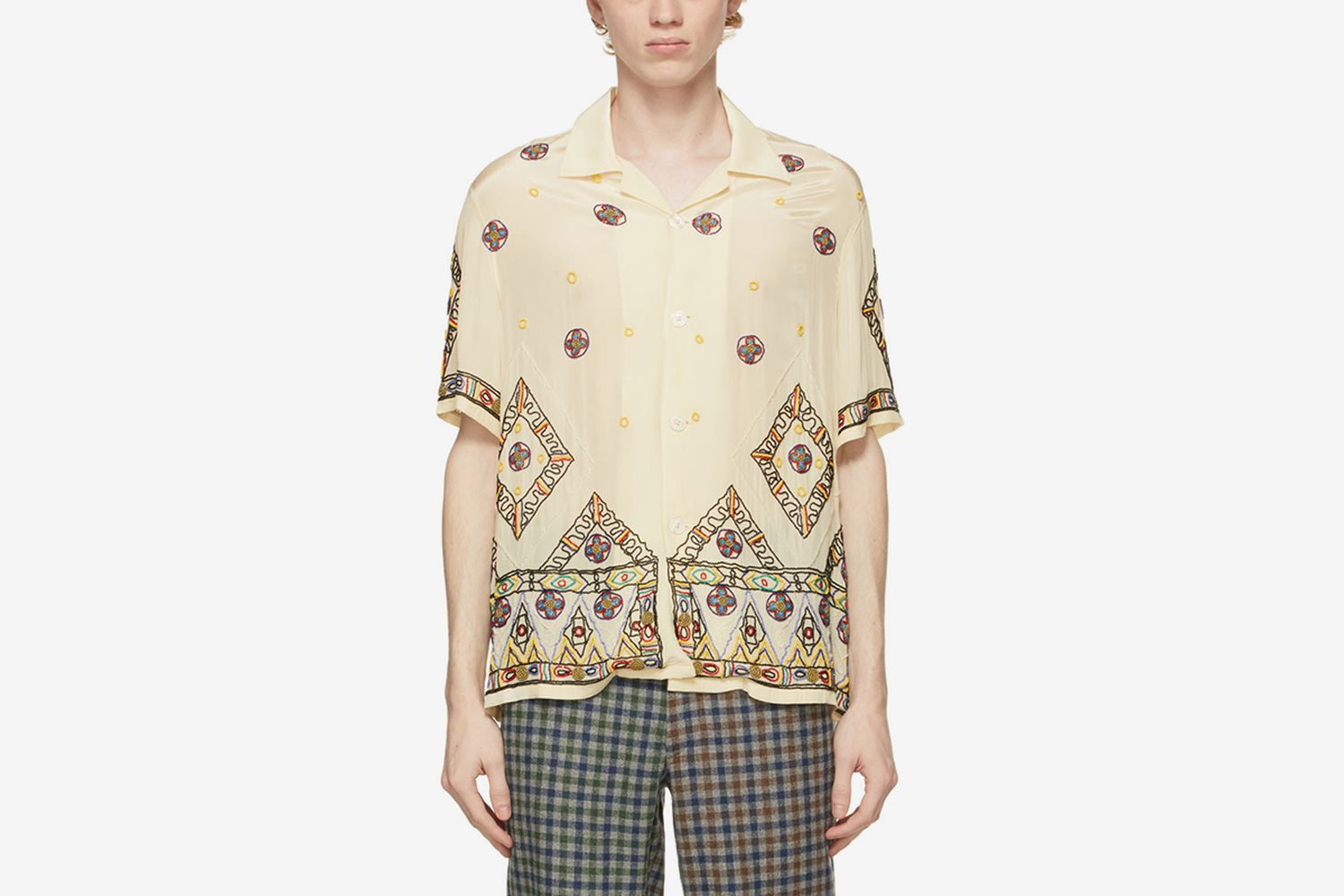 Beaded Divine Short Sleeve Shirt