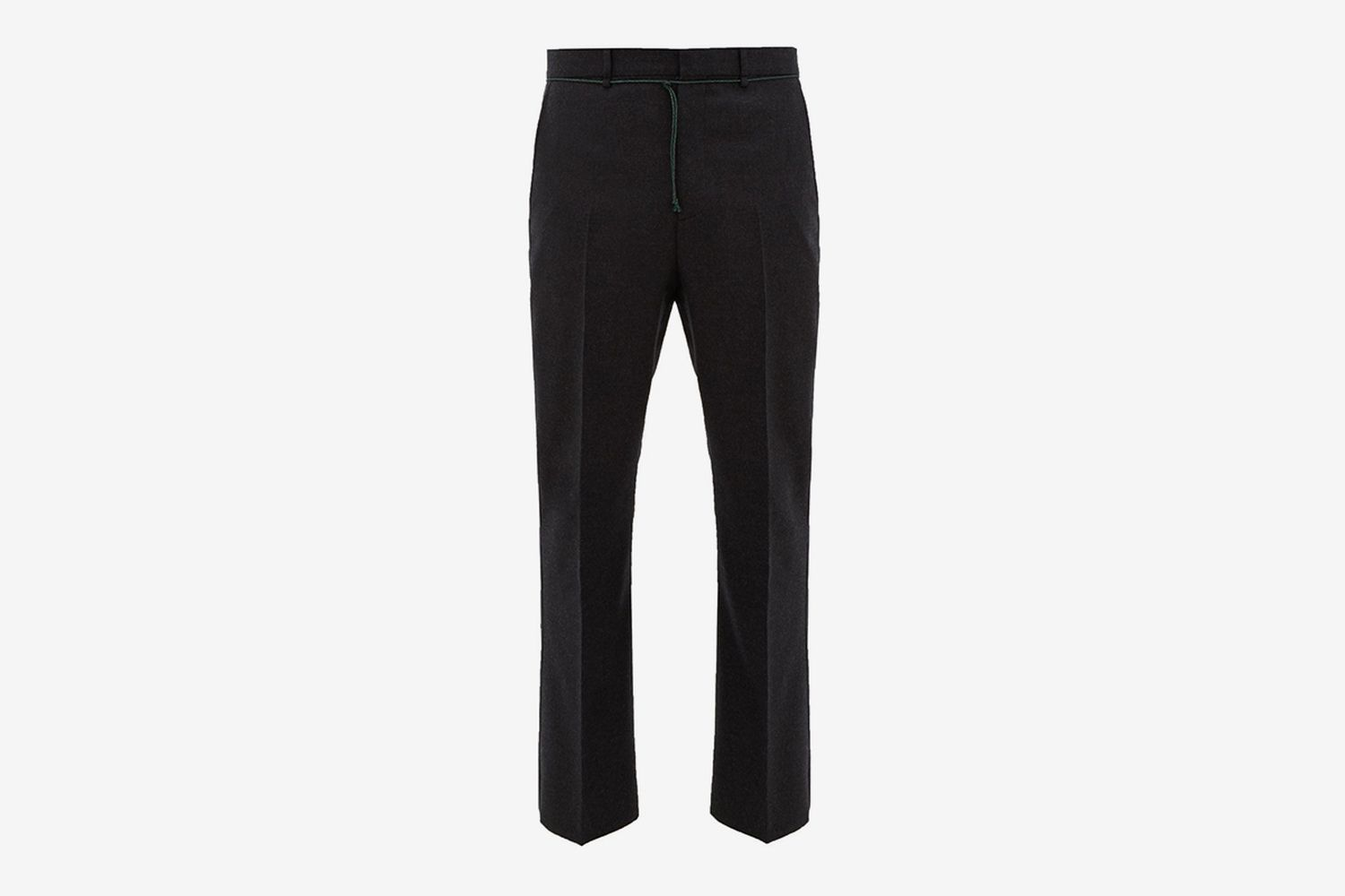 Jupiter Shoestring-Waist Flared Wool Trousers