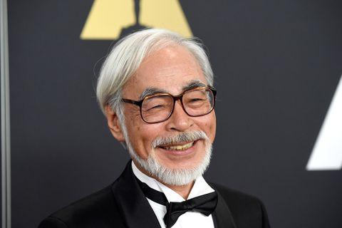 Hayao Miyazaki glasses smiling