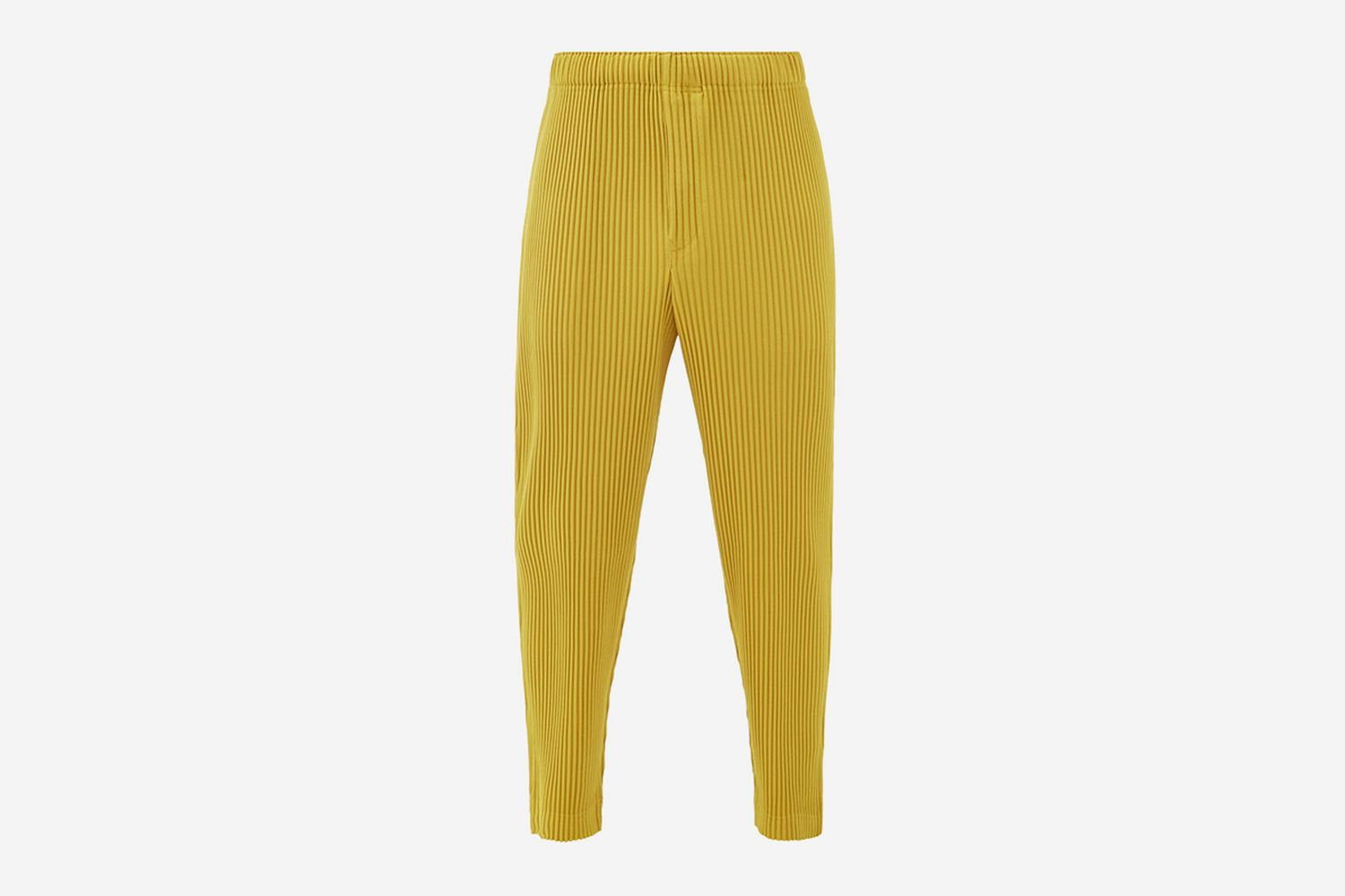 Technical-Pleated Straight-Leg Trousers