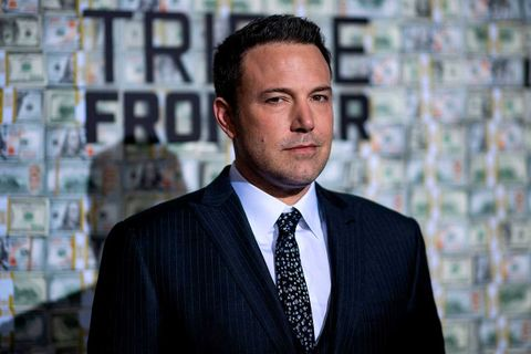 "Ben Affleck poses as he arrives for the world premiere of ""Triple Frontier"""