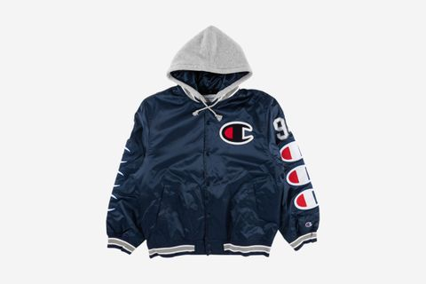 Hooded Satin Varsity