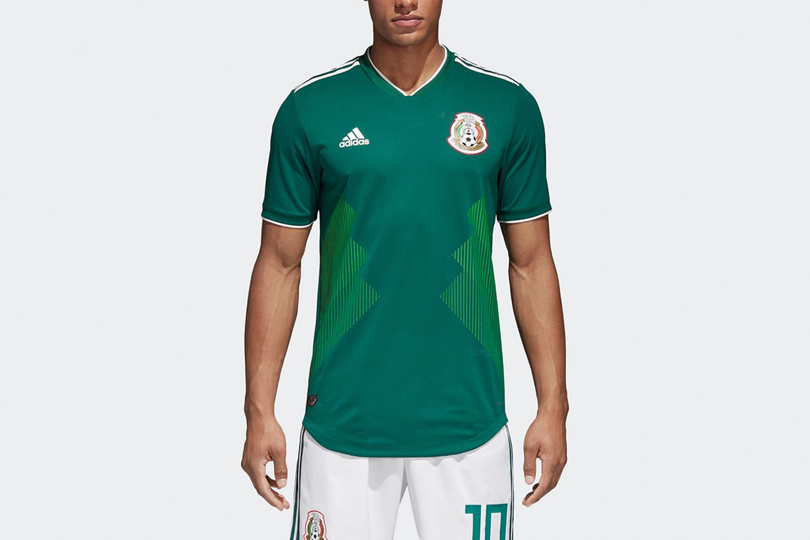 Mexico Home Authentic Jersey Green BQ4703 21 model 2018 FIFA World Cup Adidas
