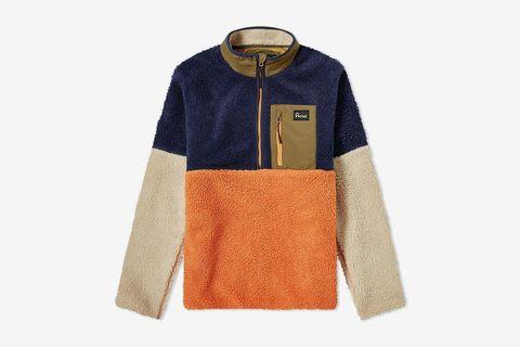 Medford Colour Block Quarter Zip Fleece