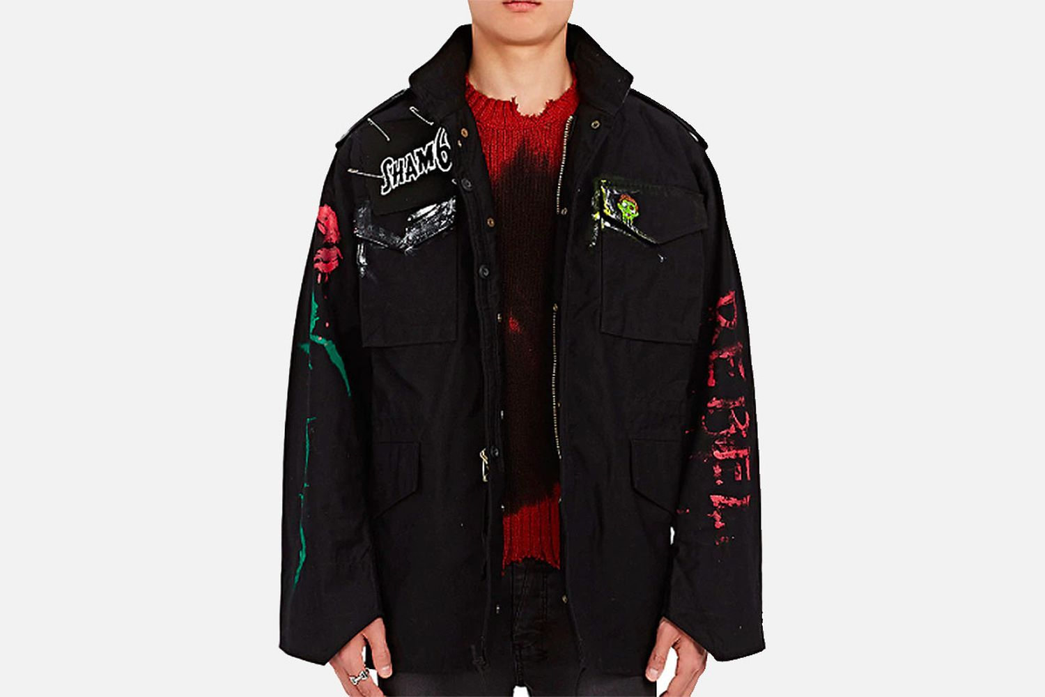 M-65 Hand-Painted Cotton-Blend Field Jacket