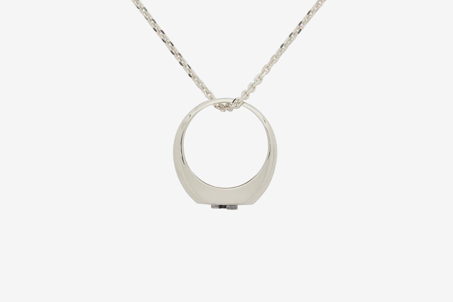 Silver La Chaine Chevaliere Necklace