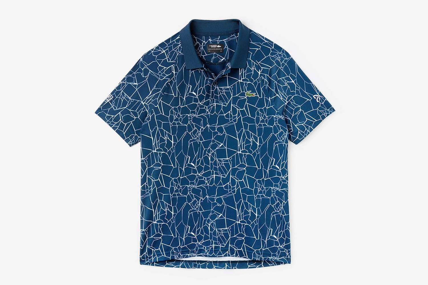 Sport Print Technical Jersey Polo