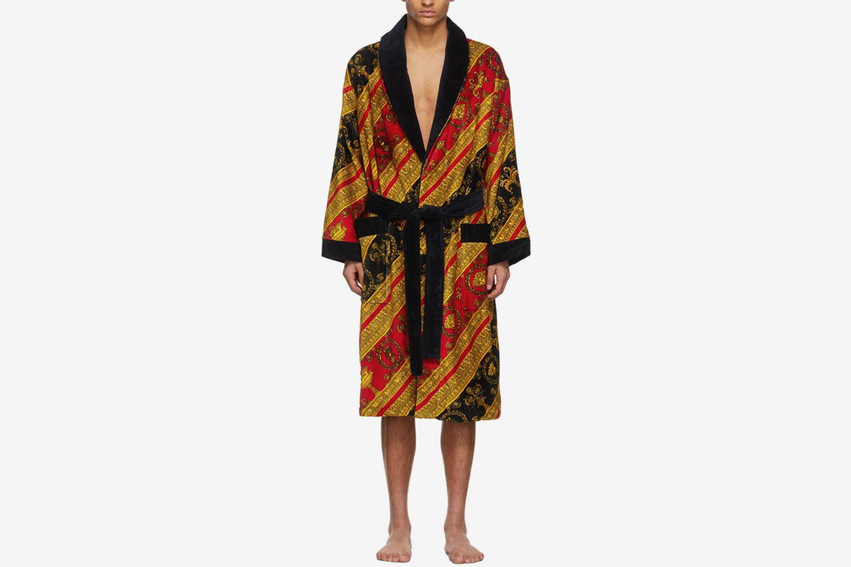 I Heart Baroque Print Bath Robe