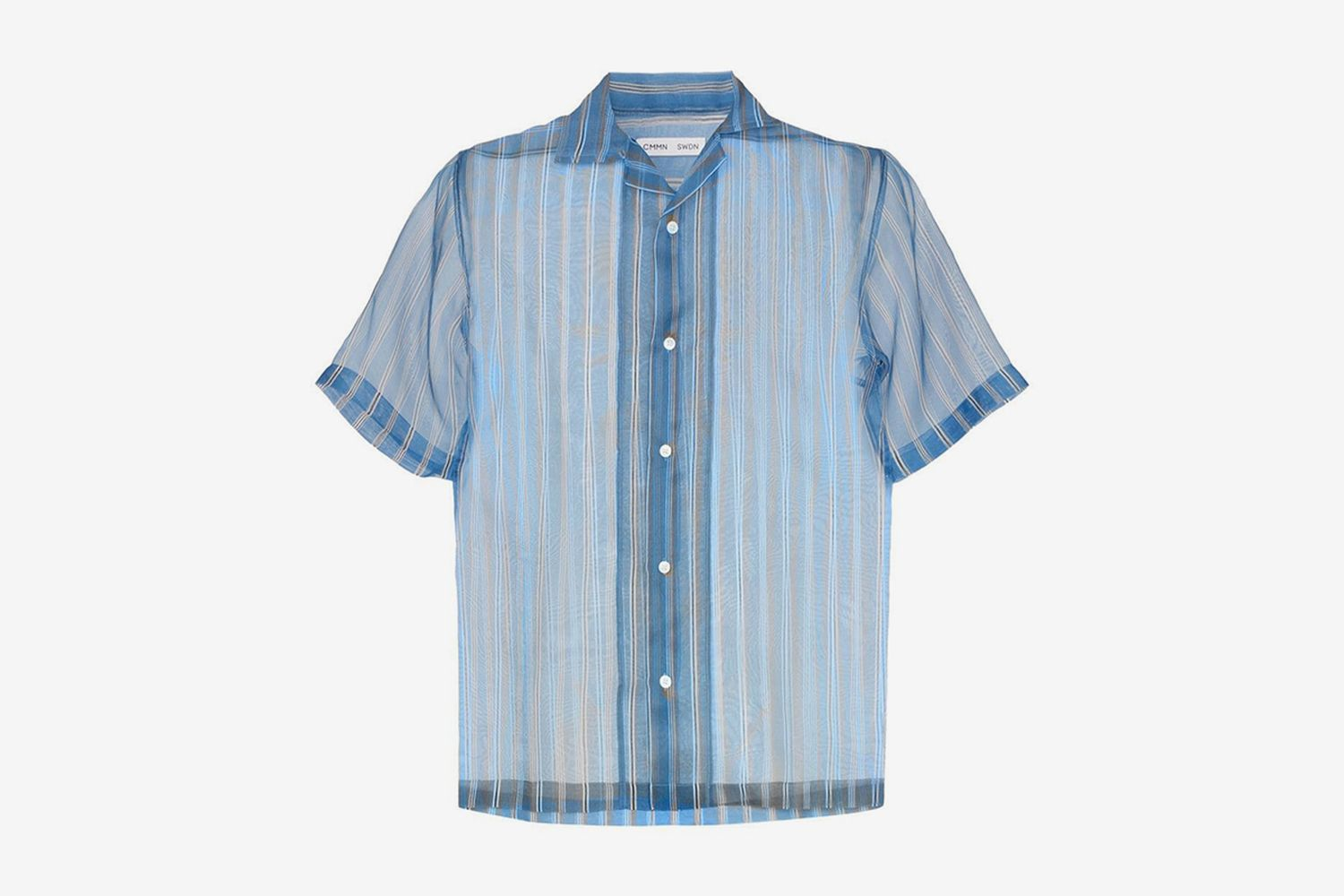 Duncan Striped Sheer Silk Shirt