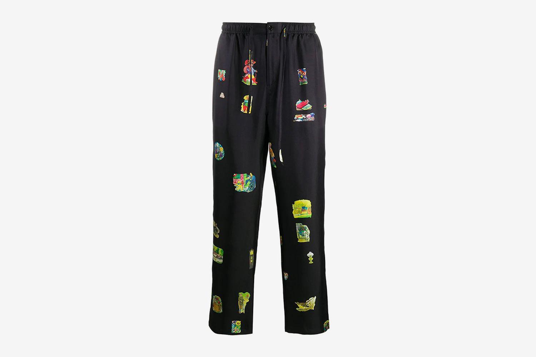 Fadi Illustration-Print Trousers