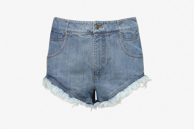 Raw Cut Cotton Denim Shorts