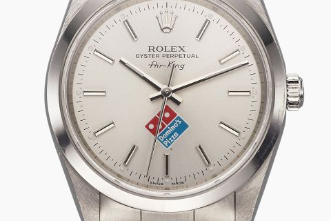 9a12752ed4f This Domino s-branded Rolex Air-King watch might look like the most bizarre  collaboration of all time