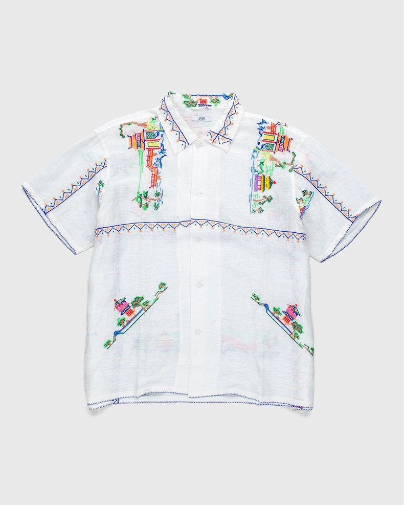 BODE — Sheer Oasis Bowling Shirt Ecru