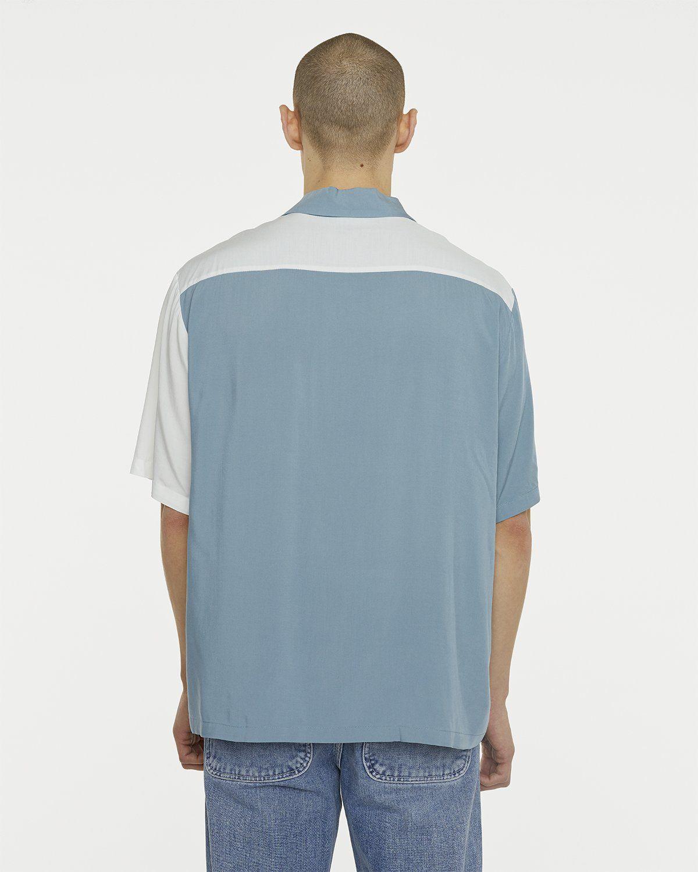 Aries - Hawaiian Shirt With Panel White/Gray - Image 5