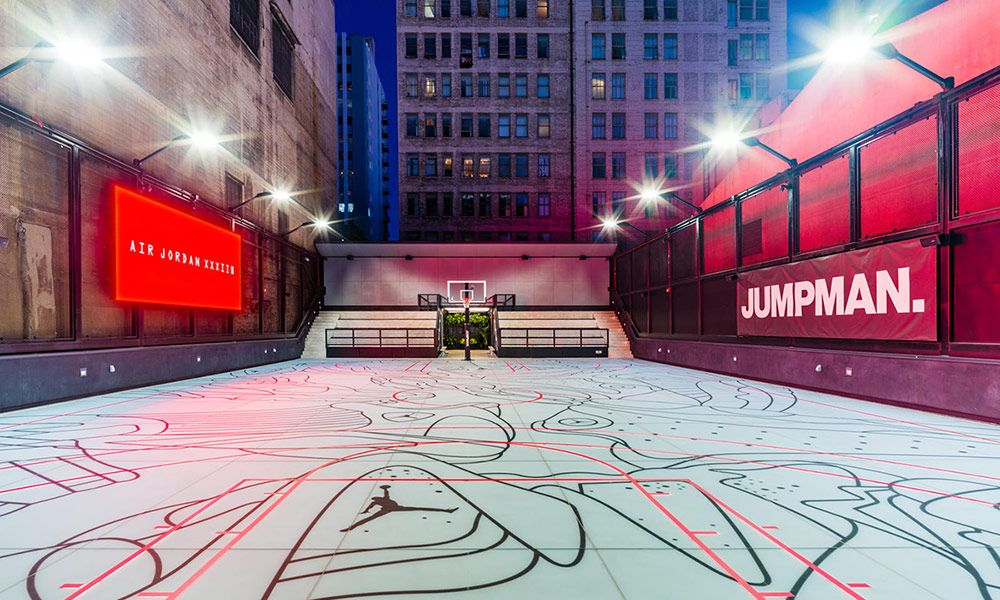 8c265ea50c65 Jordan Brand s LA Store Features a Rooftop Basketball Court