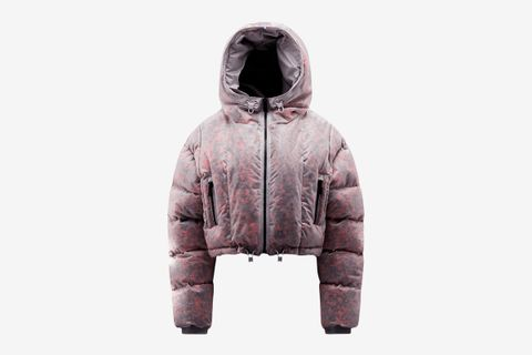 Cropped Cashmere Puffer Jacket