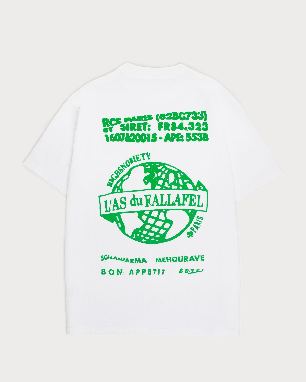 Highsnobiety x L'AS du FALLAFEL — Logo T-Shirt White - Image 1