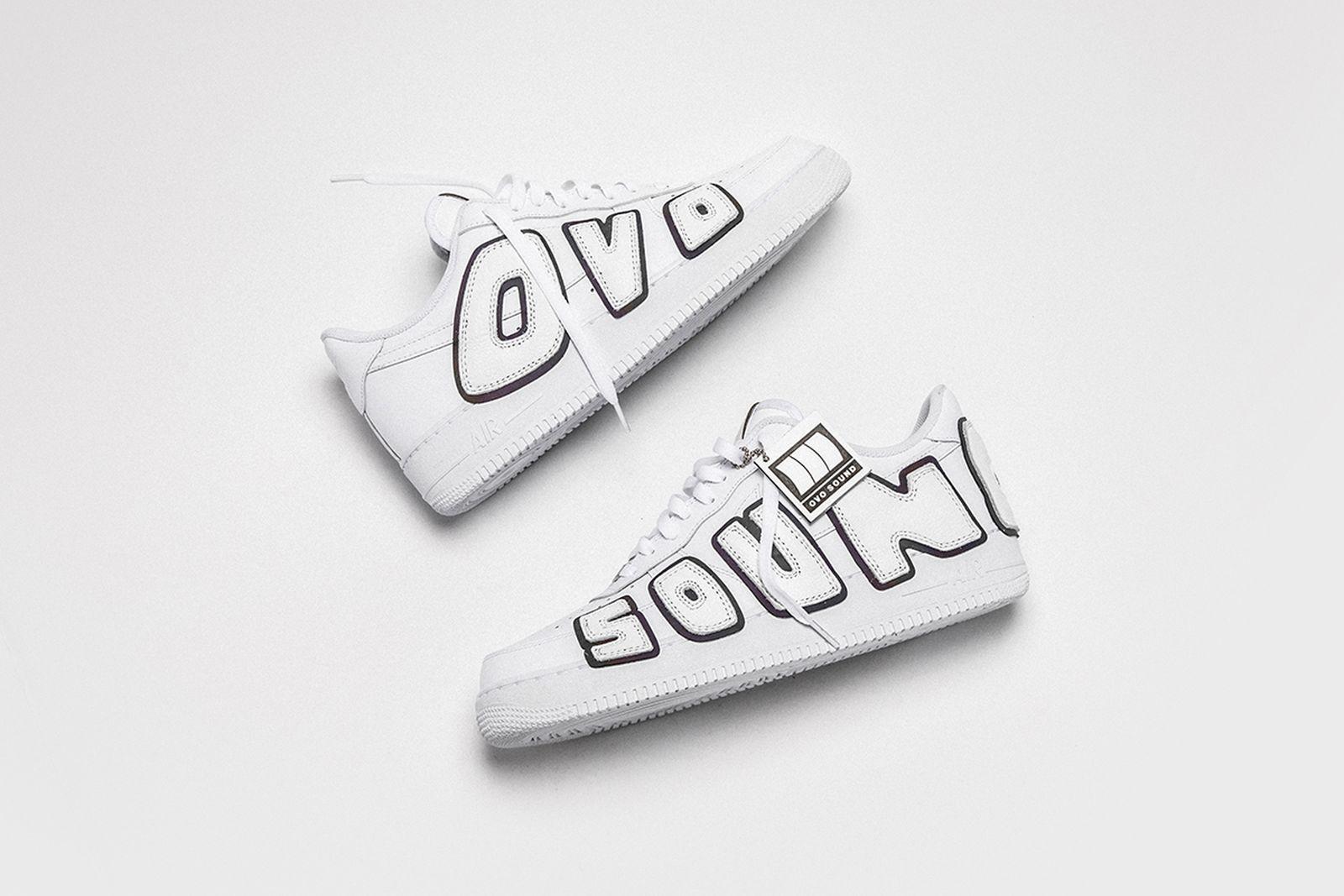 "The Shoe Surgeon Drake Air Force 1 ""OVO Sound"" custom sneaker"