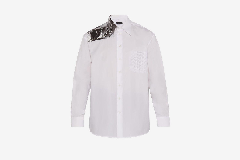 Photographic-print Cotton-poplin Shirt