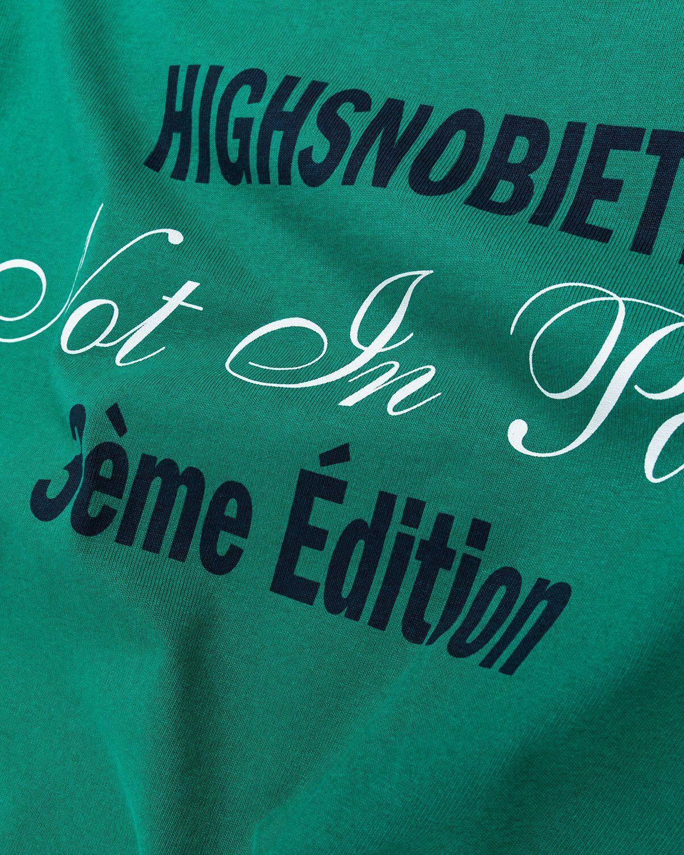 Highsnobiety — Not in Paris 3 T-Shirt Green - Image 4
