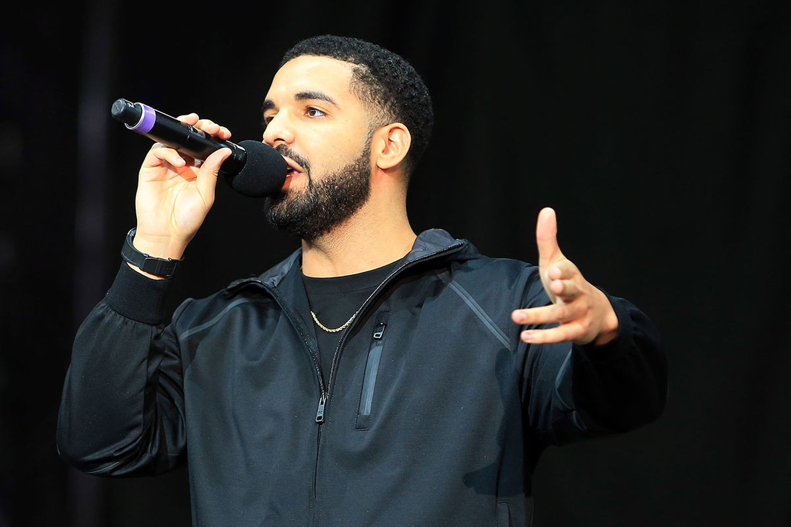 Drake at Floyd Mayweather Jr. v Conor McGregor World Press Tour