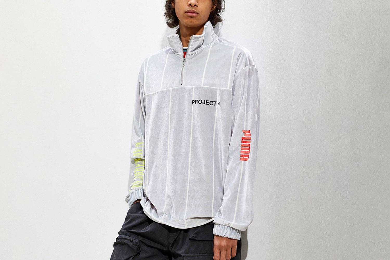 Velour Half-Zip Sweatshirt