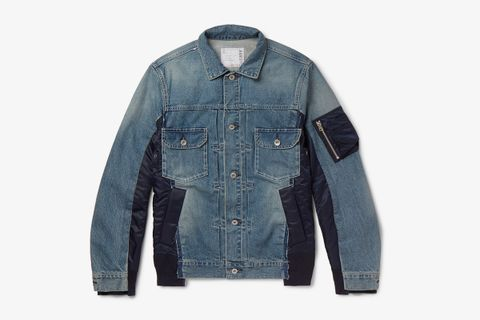 Shell-Panelled Denim Jacket