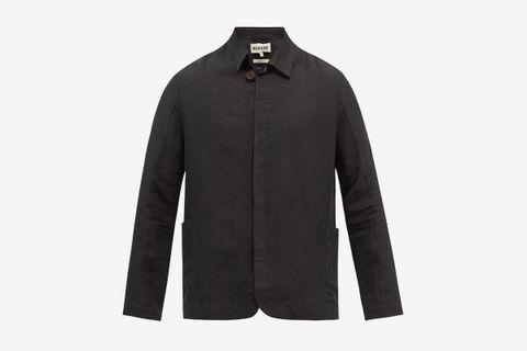 Button-Down Linen Jacket
