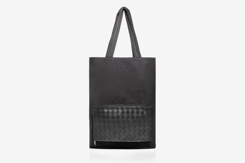 1.5 Intrecciato Nylon & Leather Tote Bag