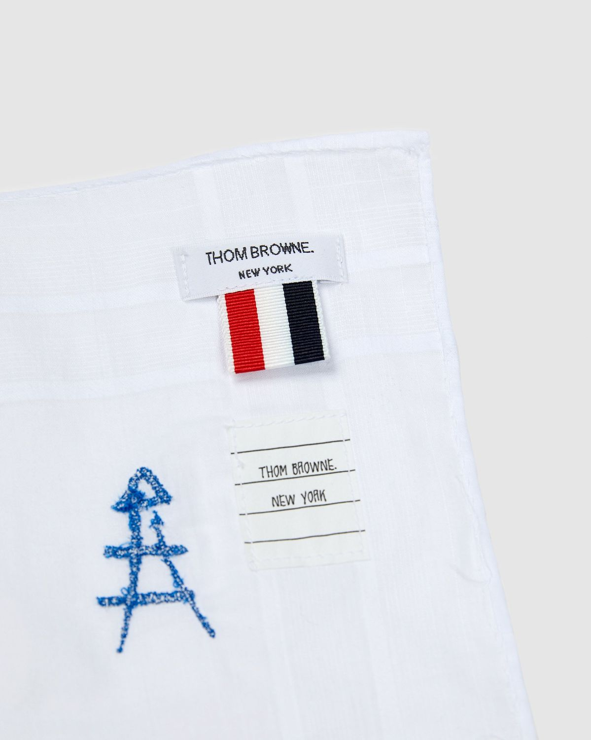 Colette Mon Amour x Thom Browne - White Embroidered Pocket Square - Image 4