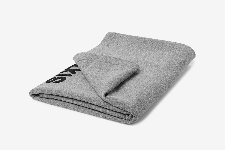 Logo-Appliquéd Loopback Cotton-Jersey Blanket