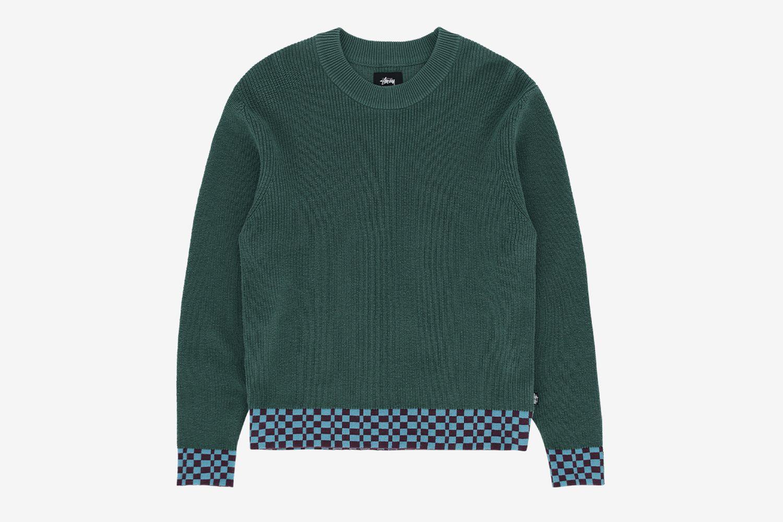 Checker Trim Sweater