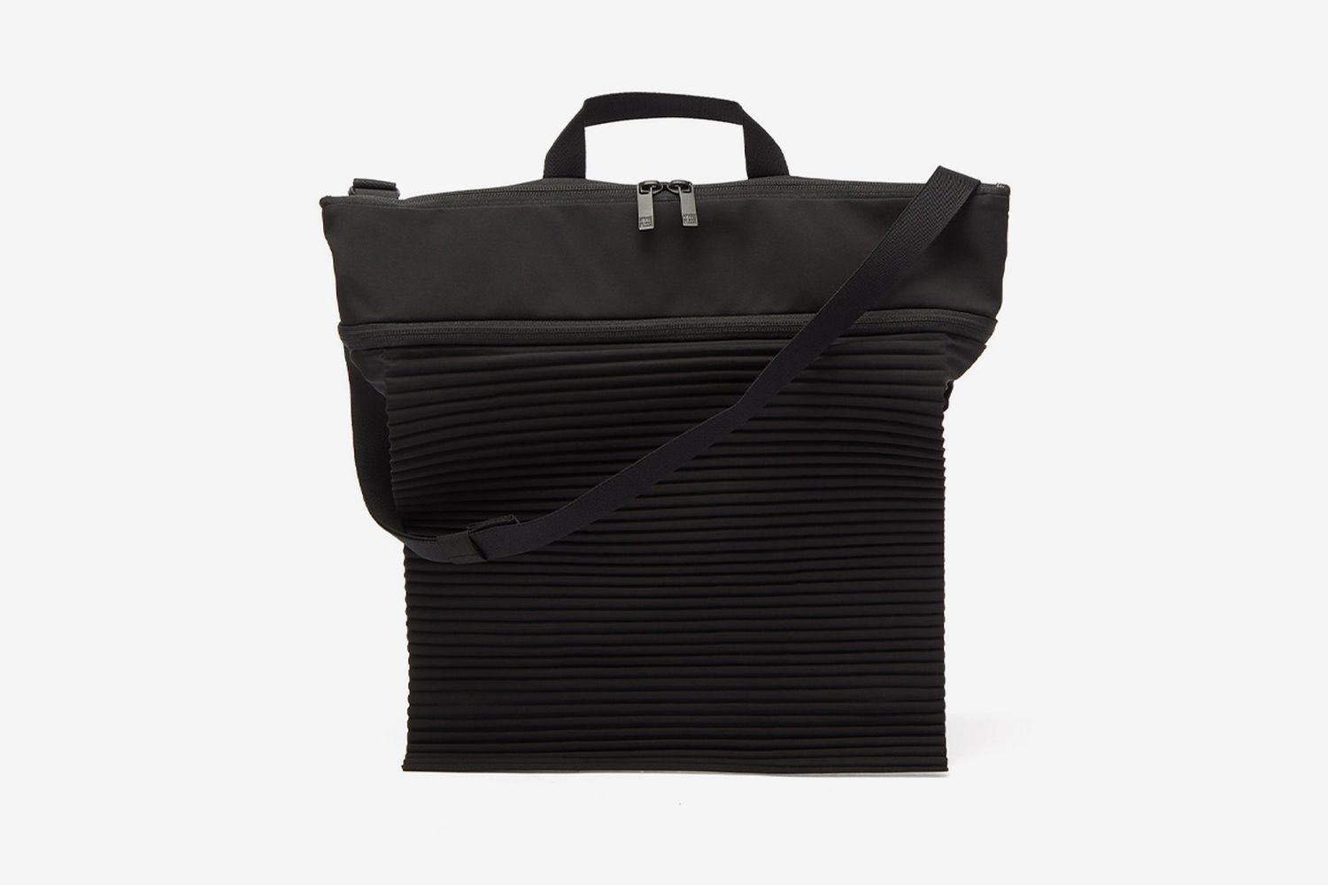 Technical Pleated Tote Bag