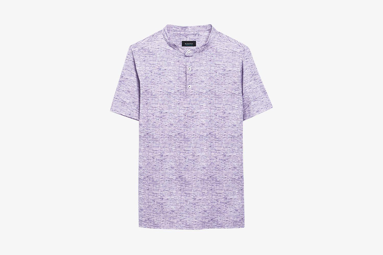 Chambray PrintedOoohCotton® Performance Henley T-Shirt