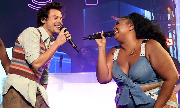 Harry Styles and Lizzo perform an exclusive concert for the SiriusXM and Pandora Opening Drive Super Concert Series