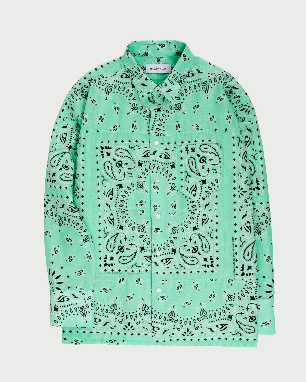 Miyagihidetaka Bandana Shirt Mint - Image 1