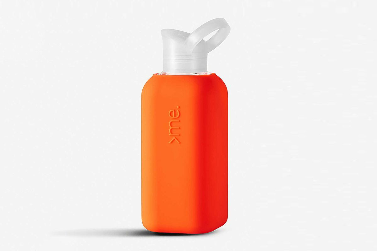 Silicone Sleeved Glass Water Bottle 500ml