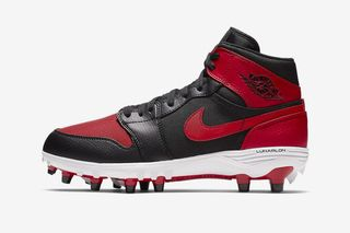"""f7691ae53 The Nike Air Jordan 1 Gets Reimagined as """"Bred"""" and """"Royal"""" Football Cleats"""