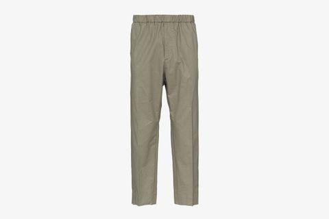 R-priamo Cropped Cotton Trousers