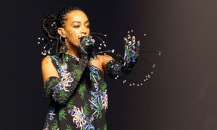 solange performs at Paris fashion week wearing kenzo